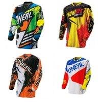 Maglia ciclismo 2017 Nuovo verde rosso nero rosso Moto GP Mountain Bike Motocross Jersey BMX DH MTB T Vestiti Camicia arancione mountain