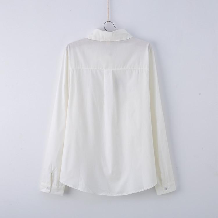13 Modele Preppy Stili Bluzë e Bardhë Vajzat Pambuku E lezetshme e - Veshje për femra - Foto 2