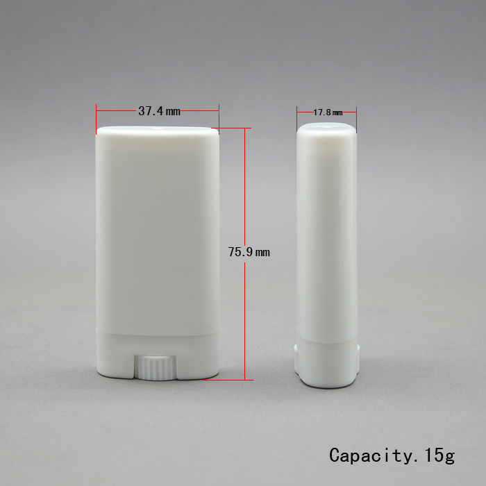 100pcs 15g White Transparent flat empty lipstick tube DIY lip balm tube with big volume deodorant