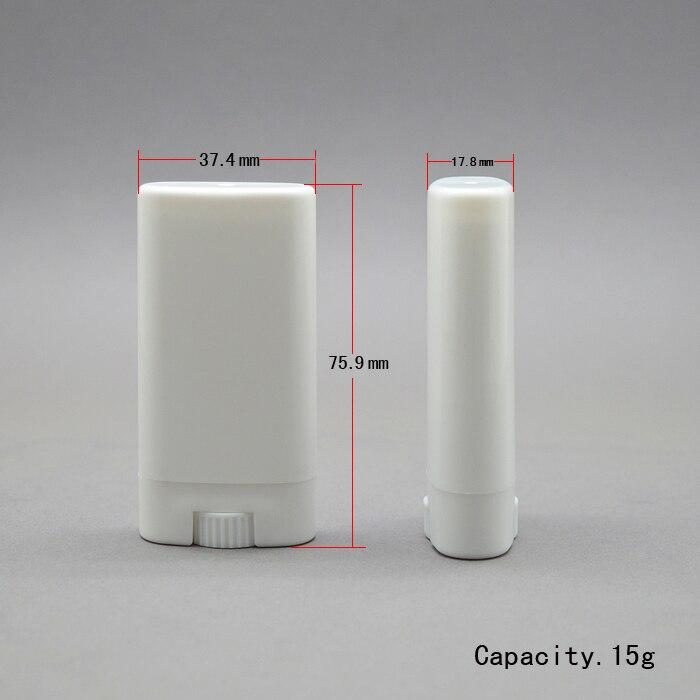 100ชิ้น15กรัมสีขาว/แบนโปร่งใสที่ว่างเปล่าลิปสติกหลอดหลอดยาหม่องครีมDIYที่มีปริมาณขนาดใหญ่ระงับกลิ่นกายหลอดจัดส่งฟรี-ใน ขวดรีฟิล จาก ความงามและสุขภาพ บน   1