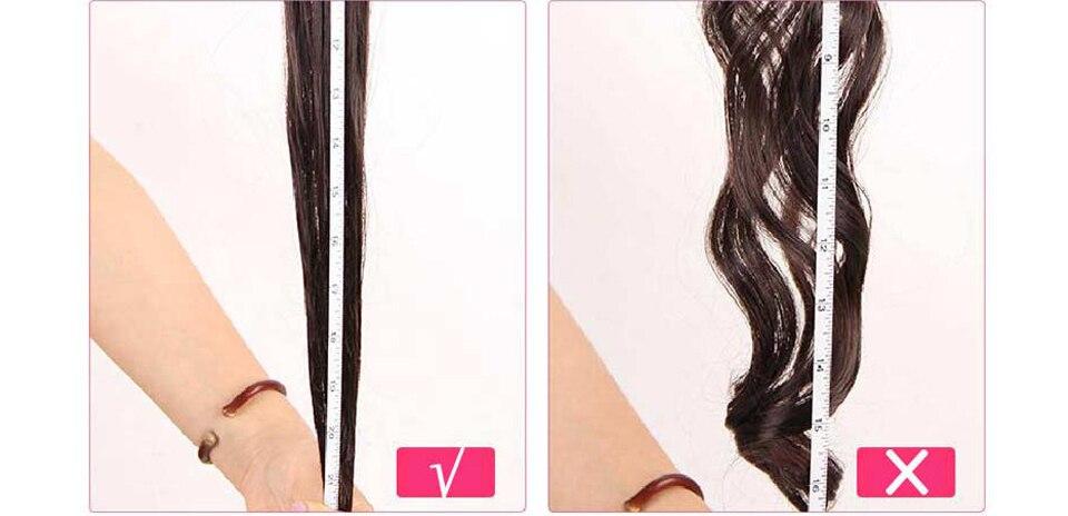 ao calor sintético extensão do cabelo natural