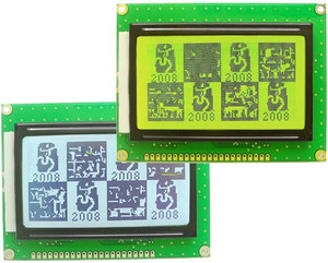 22PIN 12864K LCD Graphic Module KS0107 KS0108 3.3V 5V Controller Blue/Yellow Green/Grey Backlight