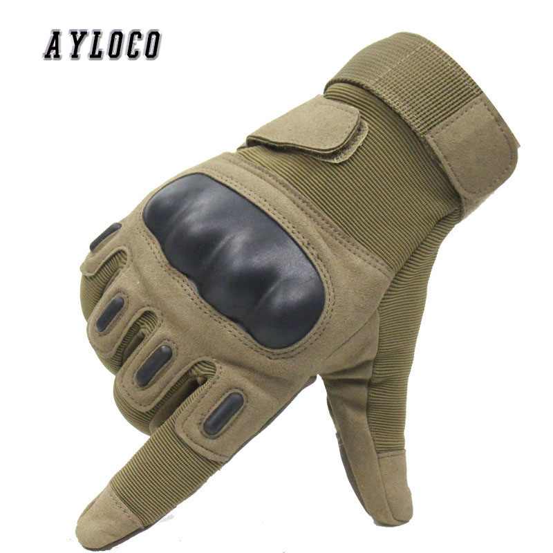 Outdoor Tactical Gloves Full Finger Sports Hiking Camping Cycling Men's Gloves Airsoft Paintball Military Armor Combat Gloves