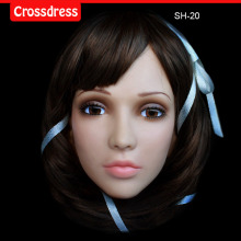 SH-20 party crossdress masquerade fancydress nightclub cosplay female silicone half face mask/props fixed with string