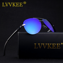 LVVKEE Brand Aluminum Magnesium Polarized lens Sunglasses Mens Driving Fishing Sun glasses Female Outdoor Eyewear Original logo