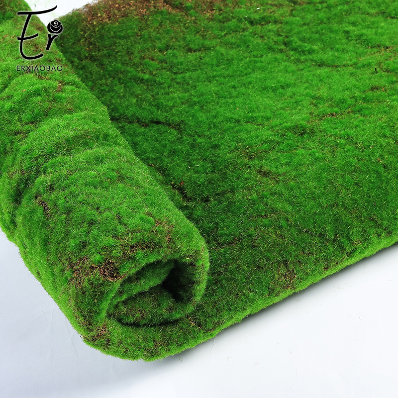 Erxiaobao 100*100 CM High Quality Polyester Artificial Moss Wall Simulation Fake Grass Lawn for Indoor Home Decoration-in Artificial Plants from Home & Garden