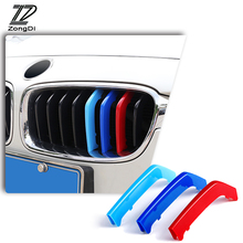 ZD For BMW E46 E90 F30 F34 E92 E93 3D M Styling Car Front Grille Trim Sport Strips Cover Motorsport Power Performance Stickers цена 2017