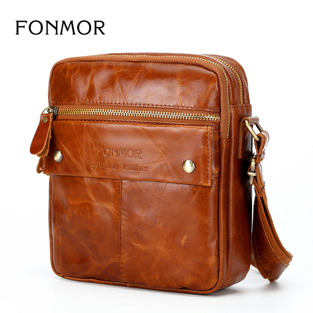 584826fc31 Genuine Leather Messenger Bags Men Travel Business flap Shoulder Crossbody  Bags Male leather bags