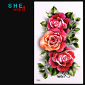 Wholesale women temporary Tattoo stickers blue peony flower camellia sex products flower personality Wholesale