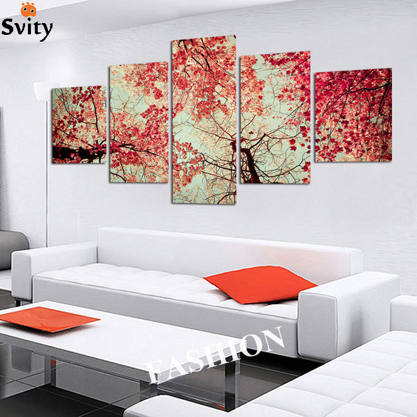 Free Shipping Home Decorators: 5 Pcs Free Shipping Home Decor Red Trees As Blood With All