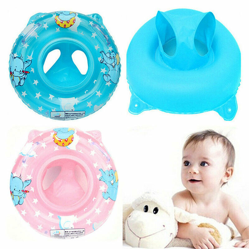 Baby Swimming Ring Swim Pool Float Inflatable Kids Safety Seat Trainer Aid Water Toy  Kid Toddler Beach Canopy Floating