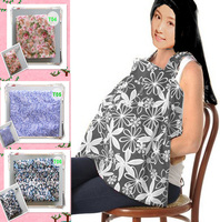 Promotion Postpartum Nursing Cover Portable Breastfeeding Apron Baby Car Seat Cotton Muslin Cape Ulti Function With Pocket