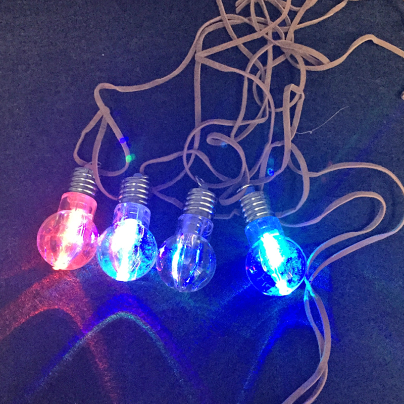 2017 10pcs fashion hot selling jewelry for women wholesale lovely light bulb pendent necklace halloween - Halloween Light Bulbs