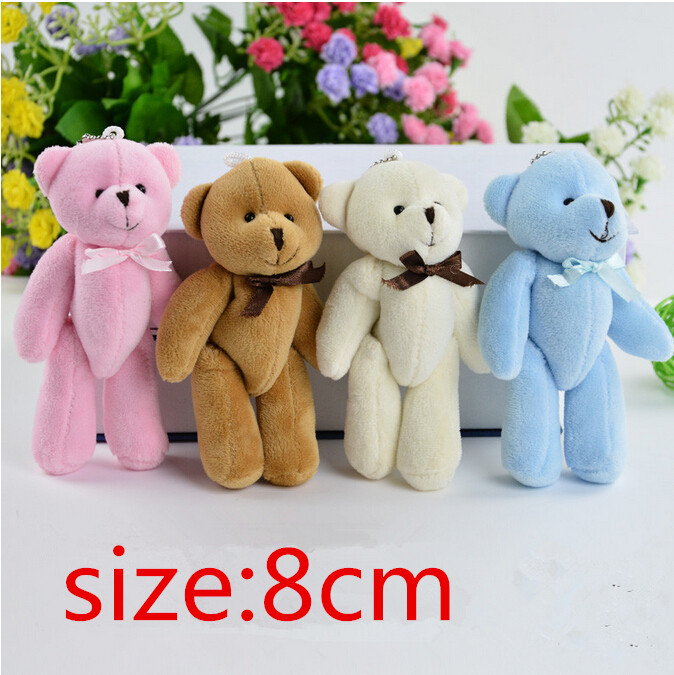 4Piece 8cm Kawaii Small Teddy Bears Plush Soft Toys Stuffed Animals Ted Dolls for Children girlfriend Gifts free shipping shengyongbao 3 5m vinyl custom photography backdrops prop indoor theme studio background gc 4375