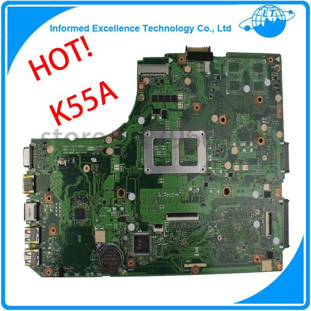 Placa madre del ordenador portátil para asus k55vd k55a caliente maindboard 60-n89mb1301-a05 integrada ddr3 probó por completo el envío libre