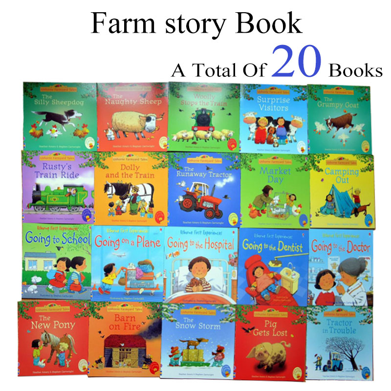English kids picture books 20Books/Set 15x15cm Children Baby famous Story English Child Book Farmyard Tales Story Eary education title=