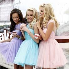 Braut Prinzessin Bankett Elegantes Backless Partei A-line Rosa Plus Size Formale Abendkleid Kurze Süße Spitze Abendkleider