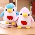 Pinguim bonito brinquedos de pelúcia 20 cm 1 peça Amor pinguim boneca de pano de Presente de casamento Dia Dos Namorados azul/rosa otário Pequeno pingente boneca