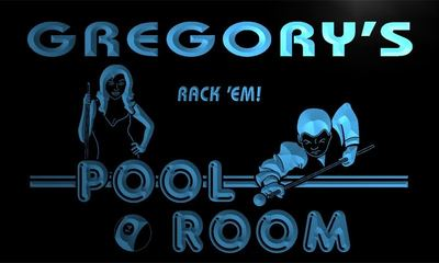 x0037-tm Gregorys Pool Room Rack em Custom Personalized Name Neon Sign Wholesale Dropshipping On/Off Switch 7 Colors DHL