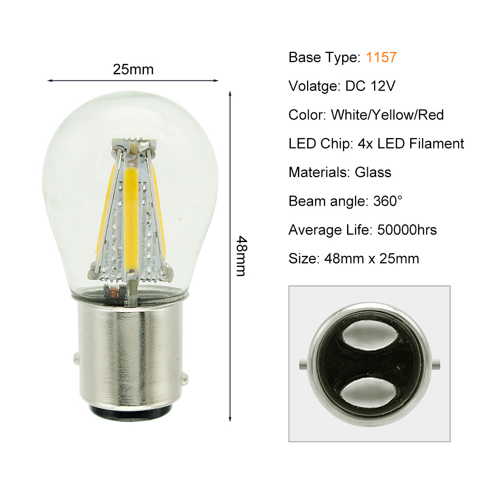 1157 4 COB LEDs