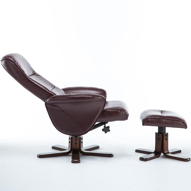 Ocio TV sillón reclinable tumbona sillón asiento giratorio w/otomano ...