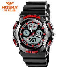 HOSKA Outdoor Diver Digital Watch 2016 Men's Multifunction 50M Waterproof LED Watch Military Sports Wristwatch Relogio Masculino