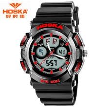 HOSKA Outdoor Diver Digital Watch 2016 Men's Multifunction 50M Waterproof LED Watch Military Sports Wristwatch Relogio Masculino