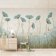 Hand-painted Leaf Photo Wallpapers for Walls 3D Living Room Bedroom Murals Wall Paper Home Decor Nature Landscape