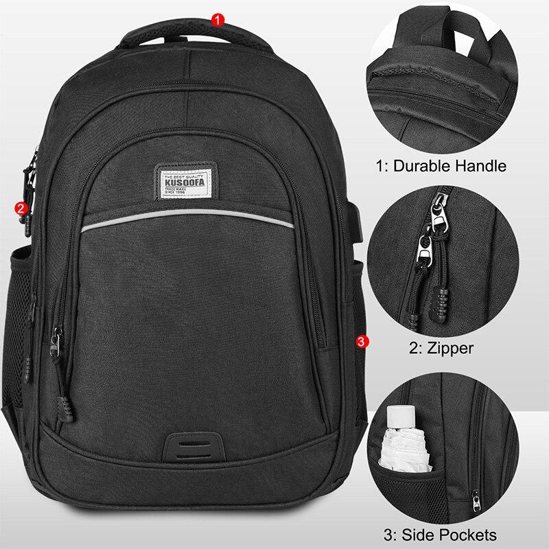Backpack Waterproof USB Charging Laptop Backpack Anti Theft men's Backpack Travel Teenage Back pack bag male Bagpack mochila (11)
