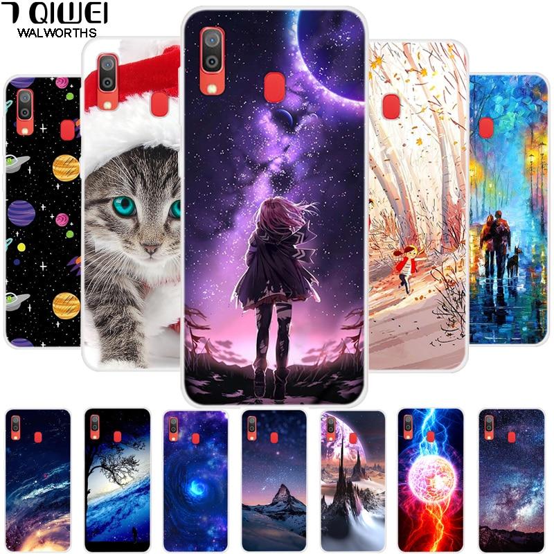 6.4'' For Samsung A20 Case Silicone Soft TPU Fashion Back Cover For Samsung Galaxy A20 Case 2019 A 20 A205 Funda Slim Girl Capa