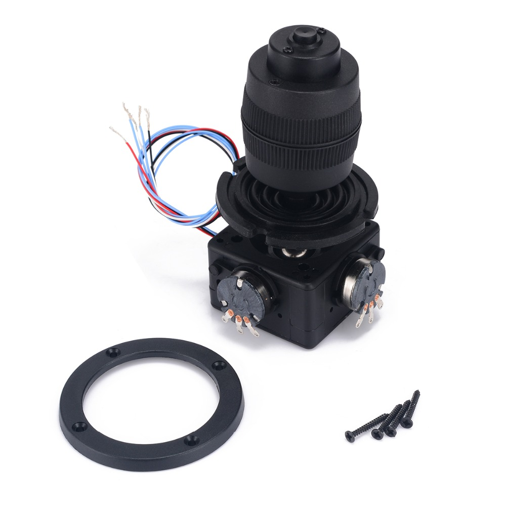1pc Black 4-Axis Electric Joystick Potentiometer Button 49.6*94.5mm For JH-D400X-R4 10K 4D with Wire Mayitr 1pc 4 axis plastic joystick potentiometer button for jh d400x r4 10k 4d with wire mayitr electric supplies tool