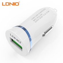 LDNIO USB Car Charger For Mobile Phone 1 Port 5V/2.1A Car Cigarette Lighter Charger Adapter With Micro/Lightning USB Cable(China)