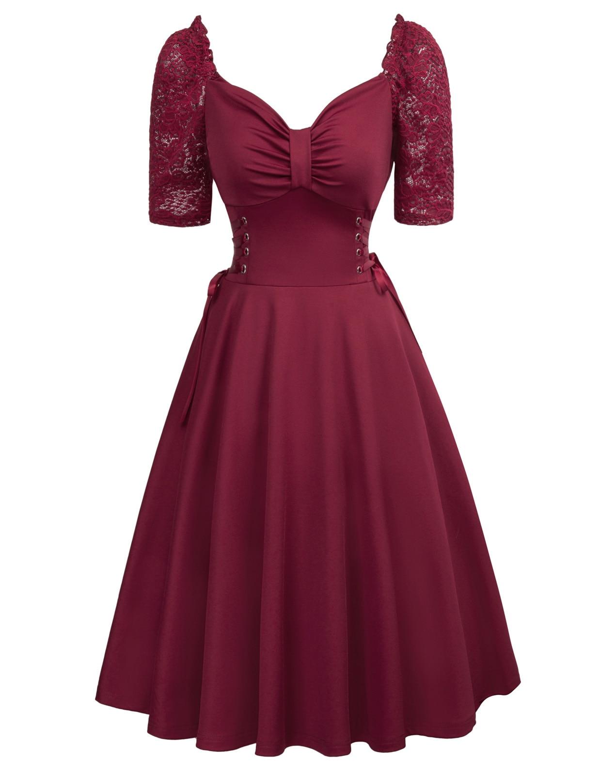 Retro Robe Vintage 50 s 60 s Pin Up Kleid 2018 Frauen sommer Schwarz ...