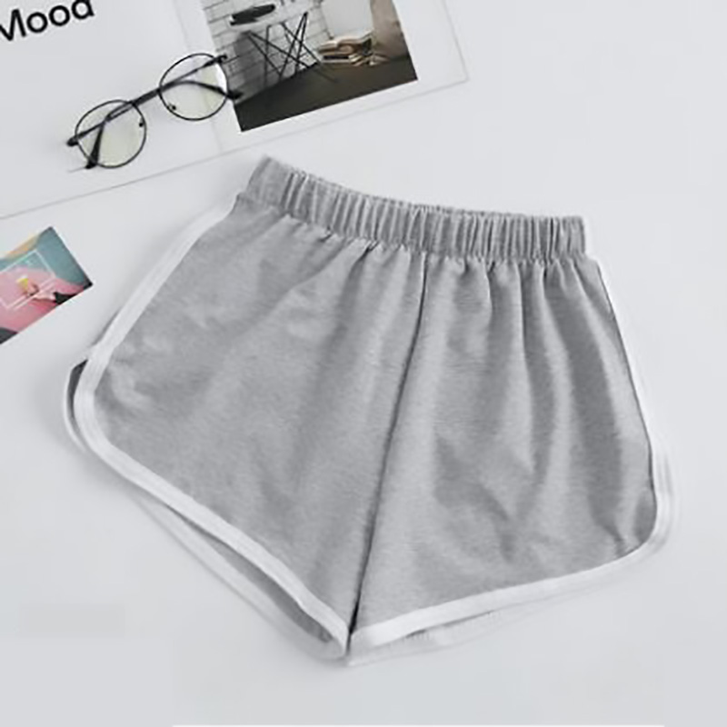 Sports shorts female summer 2019 high waist running yoga wide leg large size casual beach pants summer stitching leggings in Shorts from Women 39 s Clothing