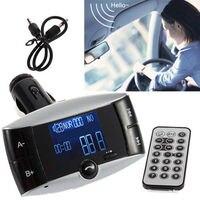 Bluetooth LCD Car Kit MP3 Player FM Transmitter Freisprecheinrichtung Musik Player Auto ladegerät für iPhone Smartphones SD/USB + Fernbedienung
