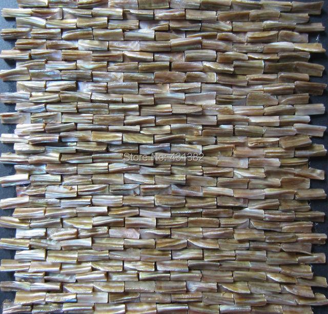 Großhandel 3D Perlmutt Fliesen, Dekorative Schale Mosaiken Versteift  Backsplash Fliesen Küche Badezimmer Wand Designs Ideen