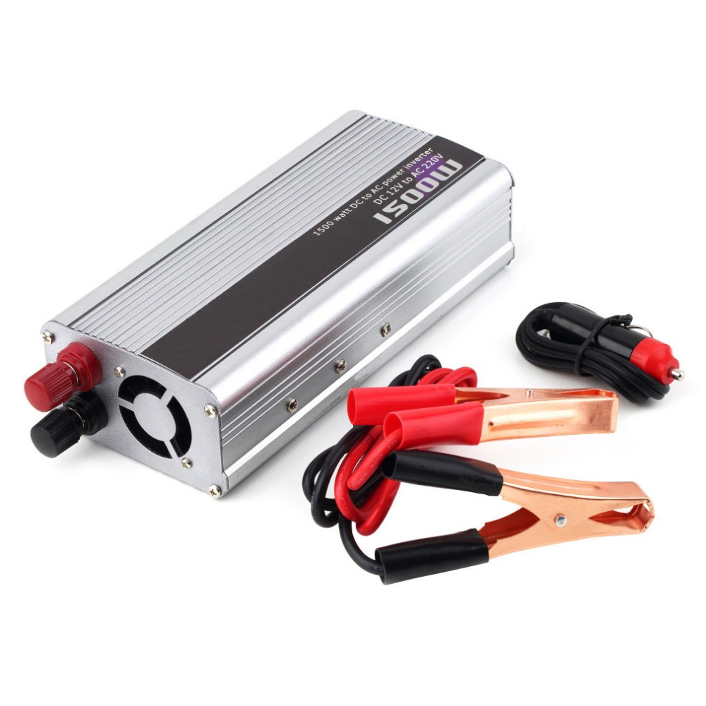Catuo 1500 Watt DC 12V to AC 220V Power Inverter Charger Converter 1000W DC 24 to AC 220 Car Charger Adapter Drop Shipping