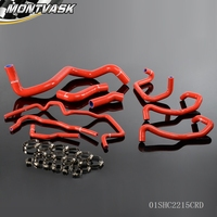Silicone Radiator Hose Kit For Volkswagen 1999 2006 Golf Mk4 1 8T Turbo