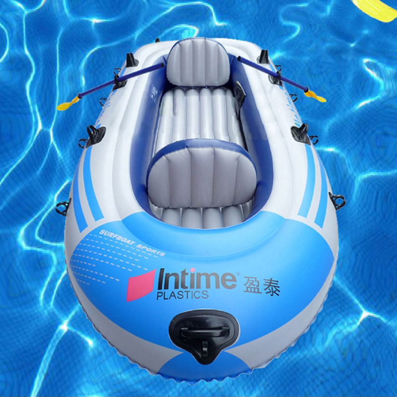 2016 1 Set Portable High Quality PVC Rubber Boat Inflatable <font><b>Fishing</b></font> Boat 3 Person Thickening <font><b>Fishing</b></font> Kayak Size 231*130 cm