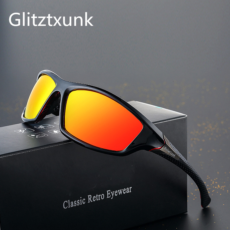 Glitztxunk 2019 New Polarized Sunglasses Men's Driving Shades Male Square Vintage Sun Glasses For Men UV400 Goggles Okulary