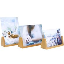 Modern Wooden Picture Frame Wooden Wall Decoration Painting Display Box DIY Handmade Photo Frame Home Decor 10pcs set wooden mini round photo frame hanging crafts diy handmade with ropes home decoration ornament