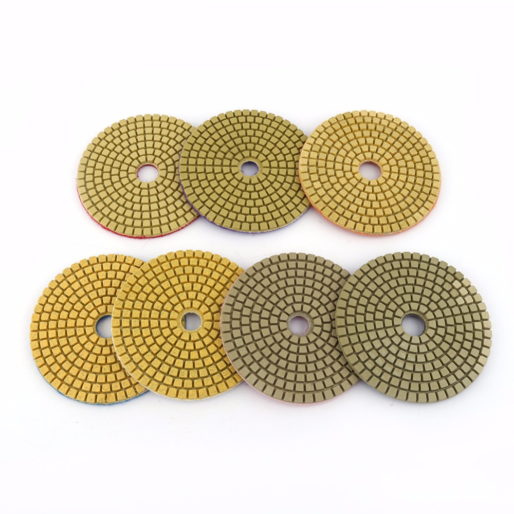7pcssets 100mm 4 wet diamond grinding disc polishing pad for for 7pcssets 100mm 4 wet diamond grinding disc polishing pad for for marble stone ceramic tiles polishing wholesale in abrasive tools from home improvement on dailygadgetfo Images