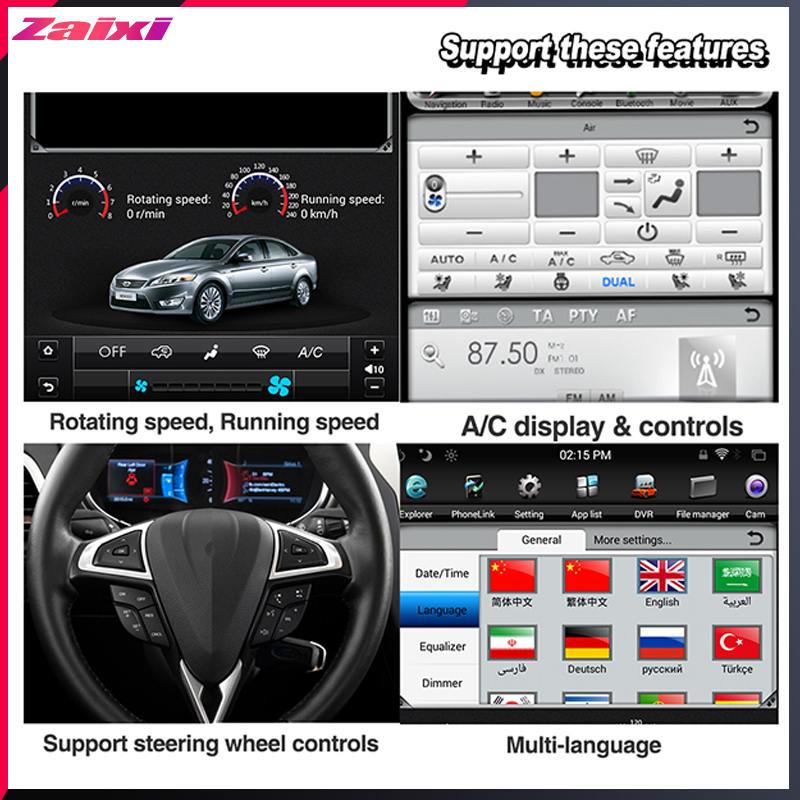 ZaiXi 10 4 inch Big screen Tesla Screen Vertical Screen Android Car PC GPS Navigation For Toyota Corolla E160 E170 2013 2016 in Car Multimedia Player from Automobiles Motorcycles