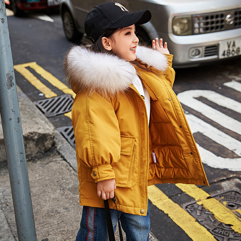 3-10 Years Thick Warm Kids Winter Coat Snow Wear Fashion Girls Down Jacket Duck Down Fluffy Toddler Girl Outdoor Overcoat Z4343-10 Years Thick Warm Kids Winter Coat Snow Wear Fashion Girls Down Jacket Duck Down Fluffy Toddler Girl Outdoor Overcoat Z434