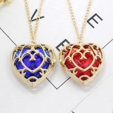 Игра Легенда о Зельде кулон Косплей Опора в форме сердца драгоценный камень ожерелье, ювелирные аксессуары