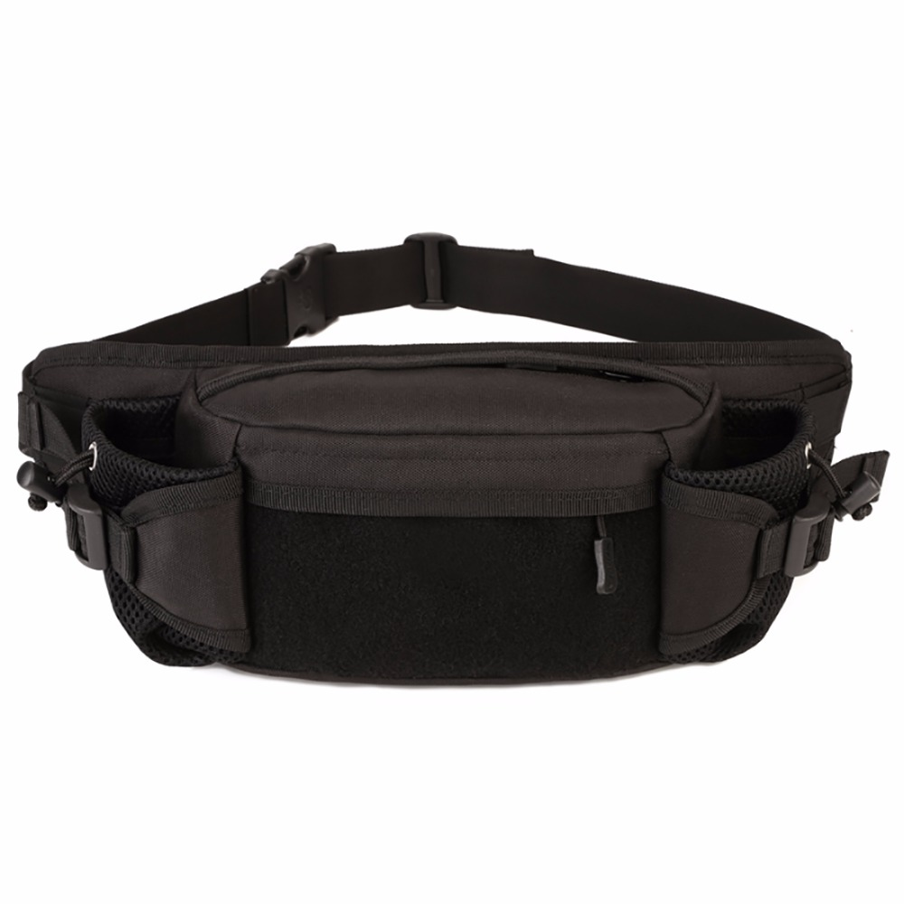 High Quality Men Waterproof Durable Nylon Fanny Waist Bag Hip Belt Military Kettle Bag Casual Travel Crossbody Chest Day Pack