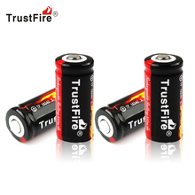 Фотография FS! Genuine TrustFire Full Capacity 880mAh 16340 RCR123 CR123A 3.7V Protected PCB Rechargeable Battery 4PCS/LOT (WF-RB058-4)