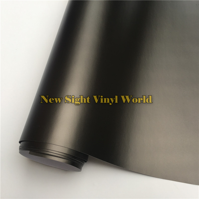 High Quality Deep Grey Matte Chrome Vinyl Wrapping Film Bubble Free For Size:1.52*20M/Roll