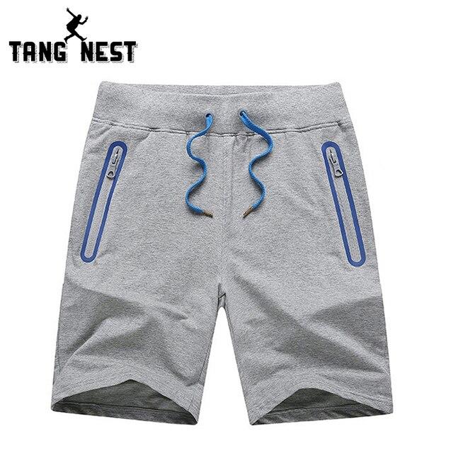 TANGNEST New 2017 Summer Casual Men's Shorts Slim Comfortable Leisure Shorts Male Drawstring Fitness Mens Shorts MKD915