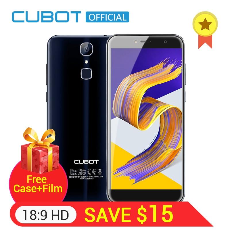 Cubot X18 D'empreintes Digitales 5.7 HD 18:9 MT6737T Quad Core 3 GB RAM 32 GB ROM Smartphone 13MP Caméra Android 7.0 Celular 3200 mAh 4G LTE